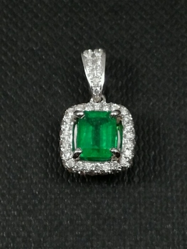 Photo of Northwest Indiana emerald pendant.