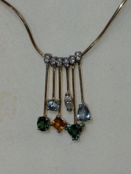 Photo of Crown Point boho necklace.
