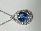 Photo of sapphire pendant Northwest Indiana.