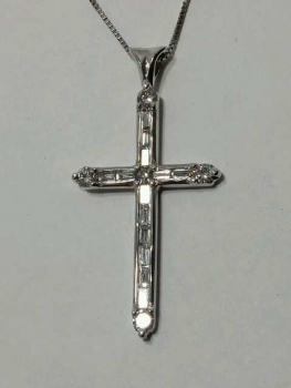Photo of Crown Point cross pendant.