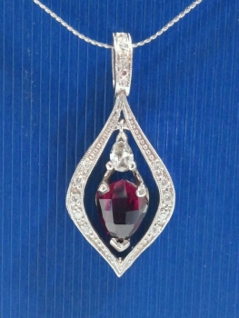 Photo of Northwest Indiana ruby pendant.