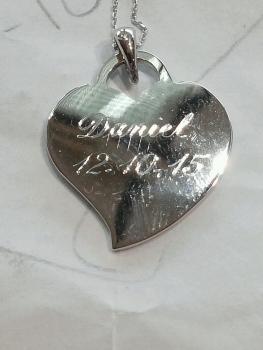 Photo of engraved jewelry Northwest Indiana.