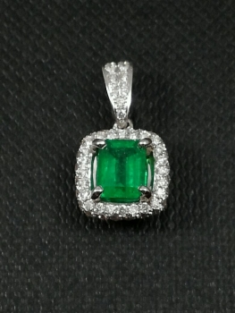 Photo of emerald pendant Northwest Indiana.