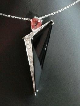 Photo of diamond necklace Merrillville.