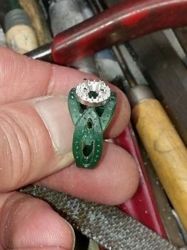 Photo of Chesterton diamond engagement ring.