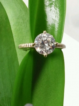 Photo of Hobart diamond engagement ring.