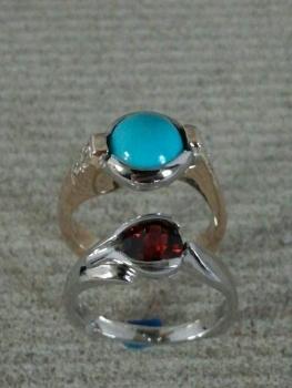 Photo of turquoise ring Northwest Indiana.