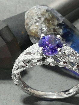 Photo of sapphire ring Valparaiso IN.