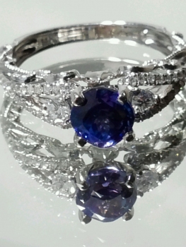 Photo of sapphire ring Northwest IN.
