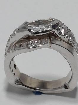 Photo white gold engagement ring Northwest Indiana.
