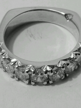 Photo of St. John wedding band.
