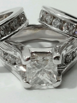 Photo of gorgeous diamond wedding ring set Crown Point.