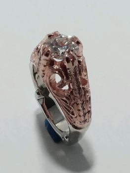 Photo of Northwest Indiana pink gold ring.