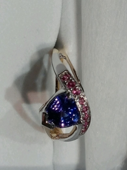 Photo of custom blue ring Dyer.