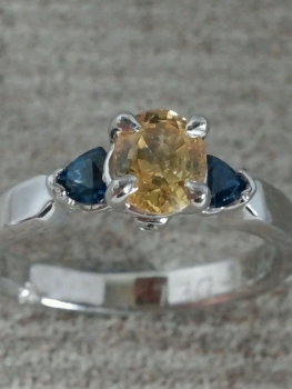 Photo of yellow diamond ring Crown Point.