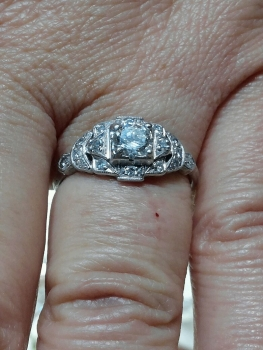 Photo of Crown Point Engagement Ring.