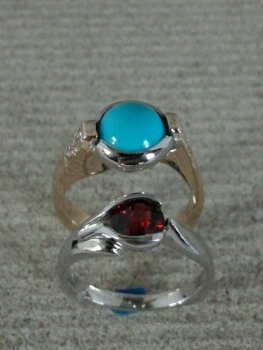 Photo of turquoise ring Northwest Indiana.