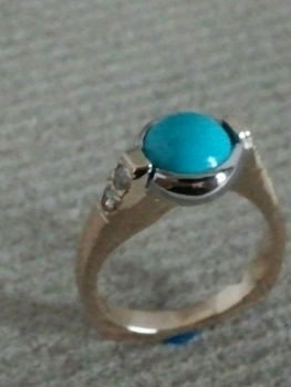 Photo of Crown Point turquoise jewelry.