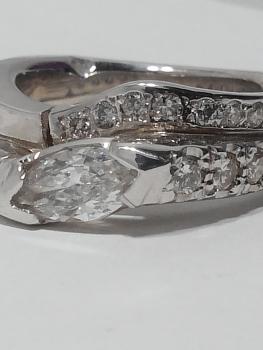 Photo white gold wedding ring St. John.