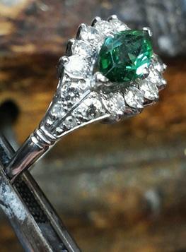 Photo of St. John custom rings in emerald.