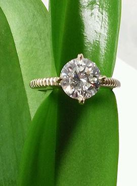 Photo of custom engagement ring Dyer.